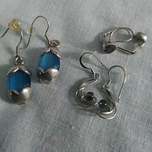 Silver Lot Earrings